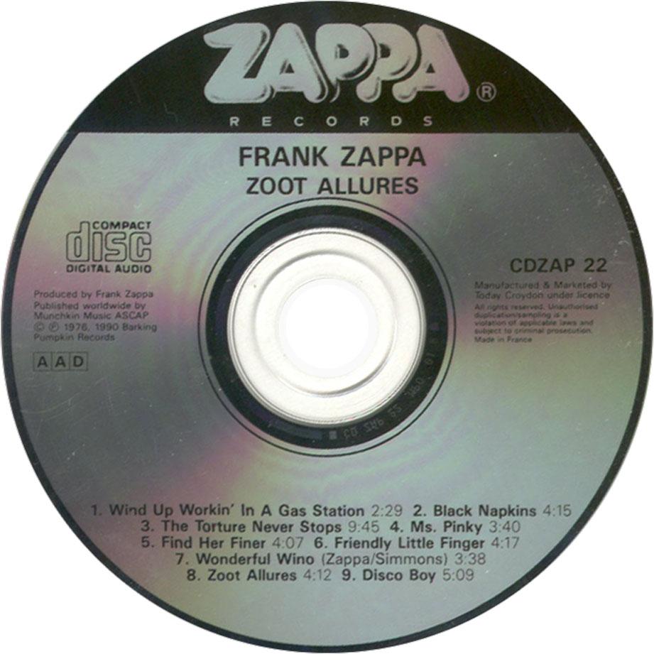 Frank Zappa Zoot Allures Artrock